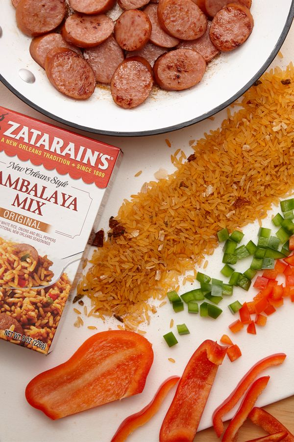 Start prepping for Mardi Gras  with a classic Jambalaya recipe. Start with Zatarain's Jambalaya Rice Mix and add meat, fresh bell peppers and onions for a delicious one-pot meal.
