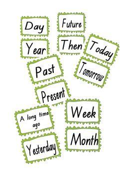 Time Words Flashcards Australian curriculum history