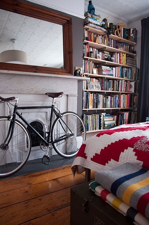 154 best images about bicycle storage on pinterest bike for Book rack designs for bedroom