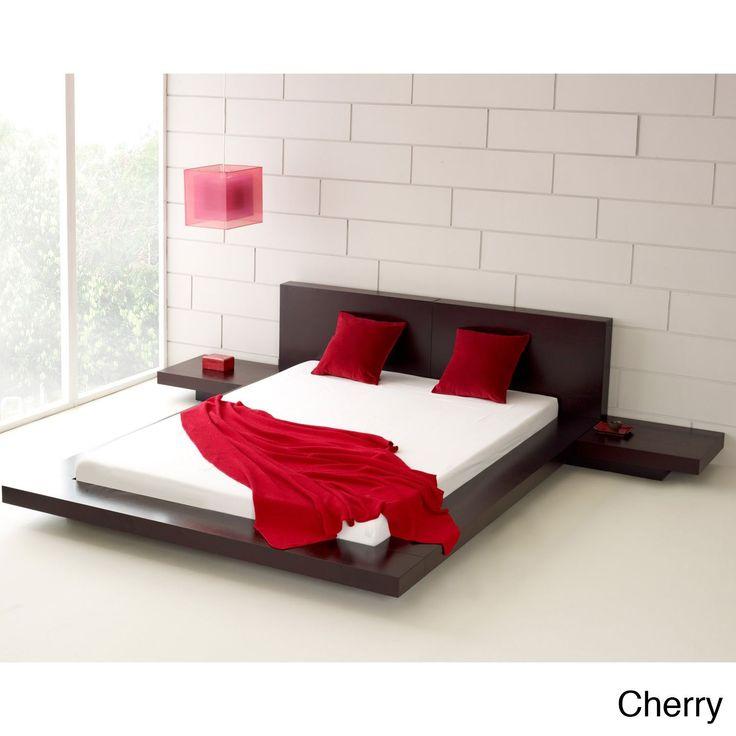 Fujian 3-piece Queen-size Platform Bedroom Set | Overstock.com Shopping - The Best Deals on Bedroom Sets