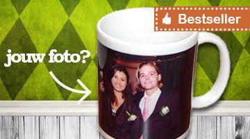 Het leukste cadeau van Nederland: Bedruk een mok met je eigen foto, tekst of logo. Gratis bedrukt, de volgende dag al geleverd (bij bestellen voor 16:30) en gegarandeerd een glimlach op het gezicht!