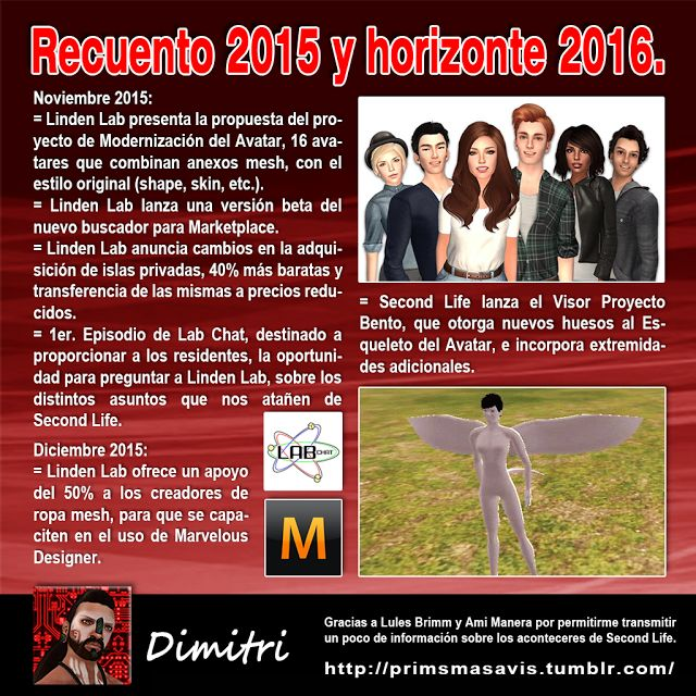 AMM Life & Style: AMM NUM 39 - RECUENTO 2015 Y HORIZONTE 2016 SECOND LIFE 07