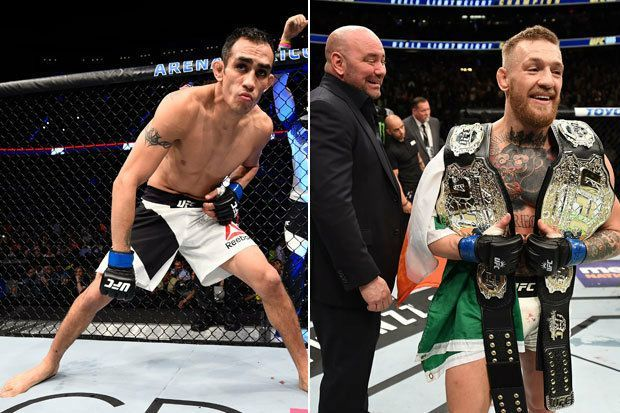 """Dana White on Conor McGregor criticising Tony Ferguson for refusing to fight a Michael Johnson when Khabib had to pull out (transcribed by givemesport.com): """"Conor text me and said, 'I can't believe you're going to pay that bum Tony Ferguson $1. You shouldn't pay that guy a dime. He was there, made weight, you lined up a fight for him with Michael Johnson [after Khabib didn't make weight] and he turned it down. F*****g bum. You shouldn't pay him a dime.' That's Conor's mentality. He ain't…"""