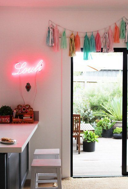 : Lights, The Doors, Houses, Dreams, Neon Signs, Design Ideas, Design File, Tassels Garlands, Confetti System