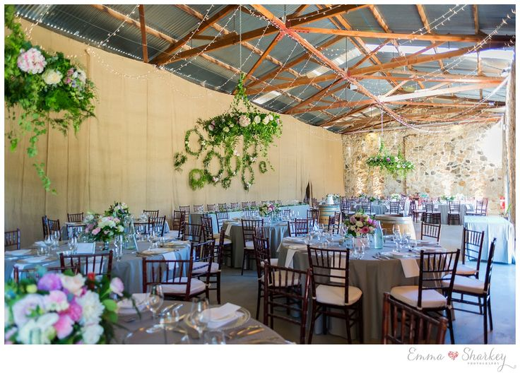 Golding Wines Emma Sharkey Photography_0071 Golding Winery all set up for a fabulous wedding reception Wedding Inspiration Floral Chandeliers Wedding Styling Wedding Photography by Emma Sharkey