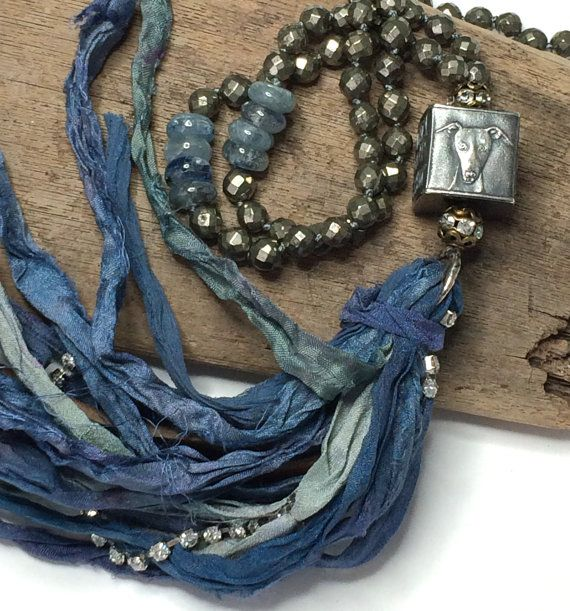 Anne Choi Knotted Sari Silk Ribbon Tassel Necklace  by LoveandLulu