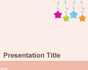 Baby Mobile PowerPoint template is a free baby decoration for PowerPoint