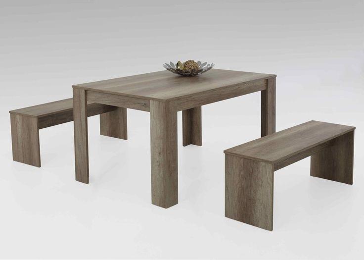 Tischgruppe Petra I Esstisch mit Sitzbänken Wildeiche 1306. Buy now at https://www.moebel-wohnbar.de/tischgruppe-petra-i-esstisch-mit-sitzbaenken-wildeiche-1306