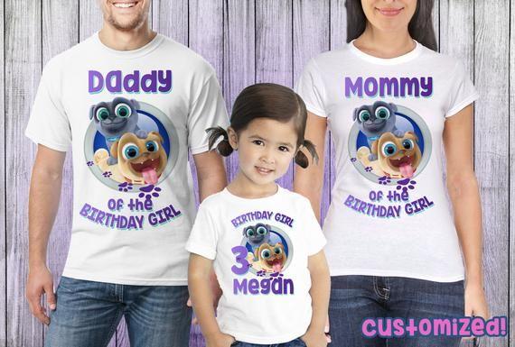 Puppy Dog Pals Birthday Shirt Girl Personalized Puppy Dog Pals For Girls Family Birthday Party Shirt Pu Birthday Party Shirt Birthday Shirts Family Birthdays