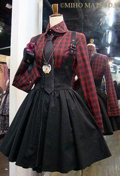 punky school lolita coord