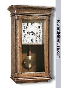 613-108 Howard Miller oak Key-wound Westminster chime wall clock   SANDRINGHAM