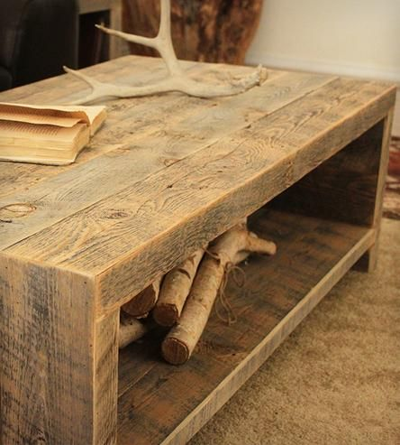Reclaimed Coffee Table | This reclaimed wood coffee table has an open design to match i... |
