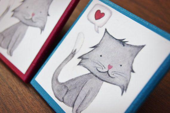 Magnete da frigo Gatto innamorato Illustrazioni di LisaCiccone