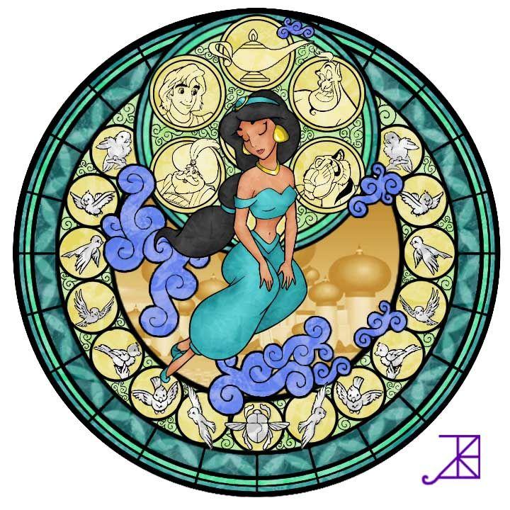Disney Stain Glass: Jasmine in Aladdin