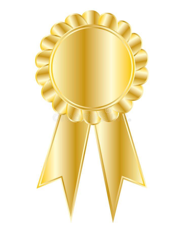 Golden Medal Golden Award Or Medal With Golden Ribbon Affiliate Medal Golden Award Ribbon Golden Ad Award Poster Golden Awards Award Template