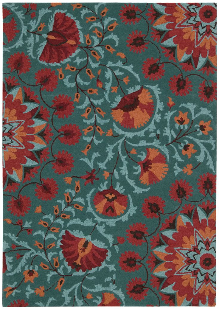 Add a breath of fresh air to any interior with these colorful and magnificently textured rugs. Hand tufted from 100% wool, this collection features a cut and loop pile and bright floral-themed patterns. Let your room bloom throughout the year and...