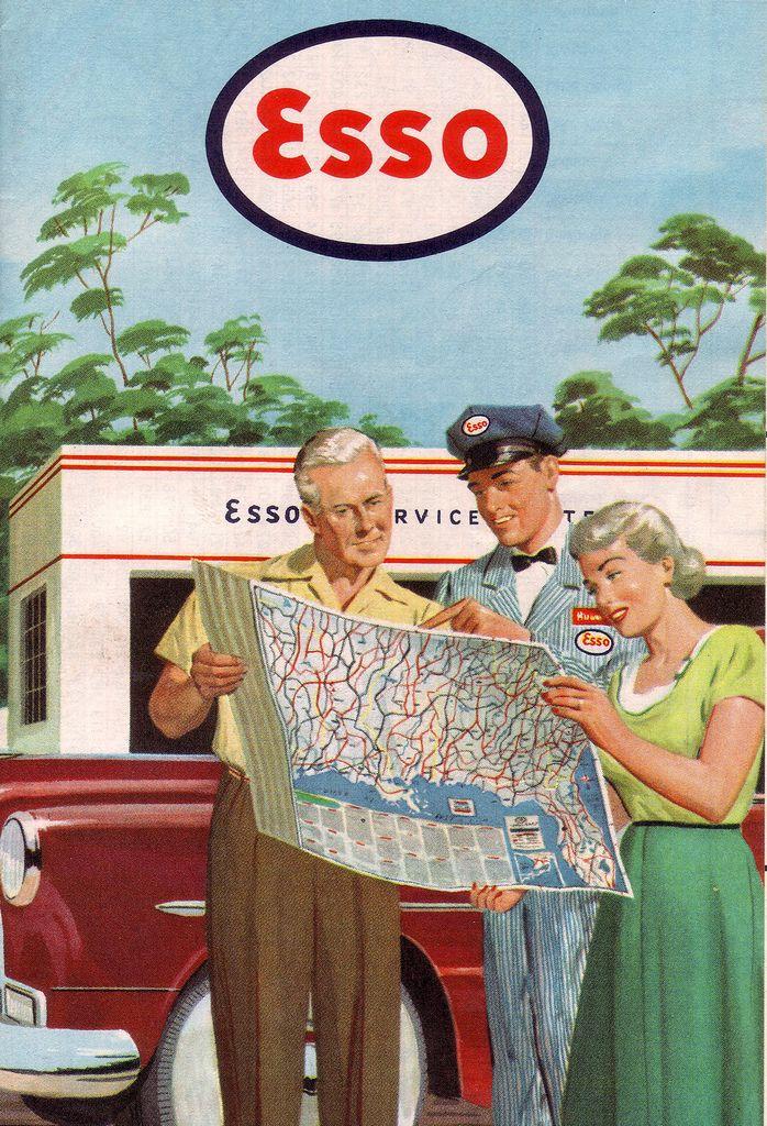 Esso Road Maps (1953) http://www.healthydinneroptions.com/