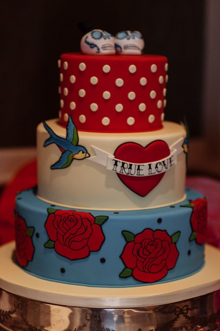rockabilly wedding cake bold and colourful leeds wedding by toast of leeds 19241