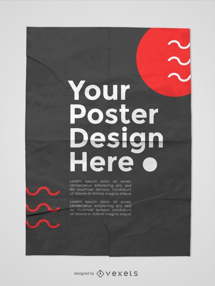 Pasted Poster Mockup Branding Template Poster Mockup Mockup Psd