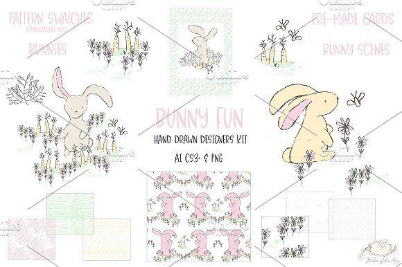 Bunny Fun Spring Summer Vector PNG by Studio Julie Ann on @creativemarket