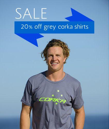 Classic T-shirt (Grey) - 20% Off This Week Only!  #shopping #corka #swimwear #australia #tshirts #mens #discount #offers #australiashopping #onlinestore #sale #grey