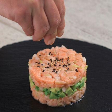 paso 4 Tartar de salmon y aguacate