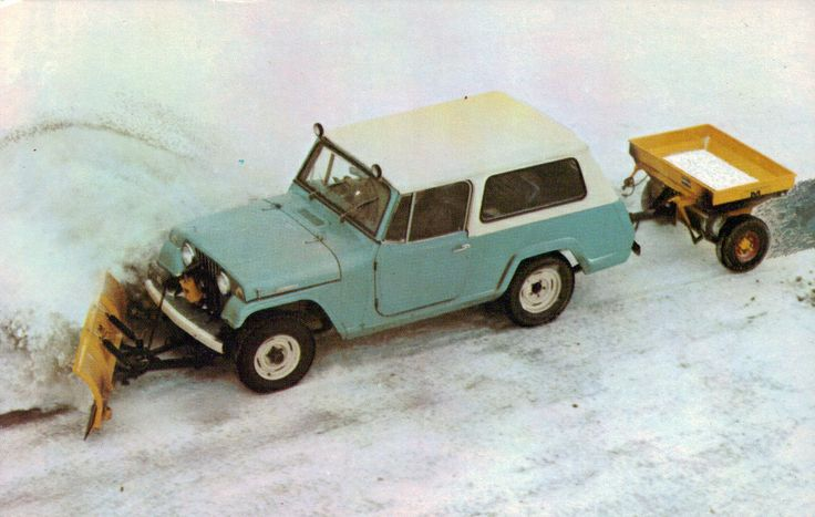 willys jeep plowing snow