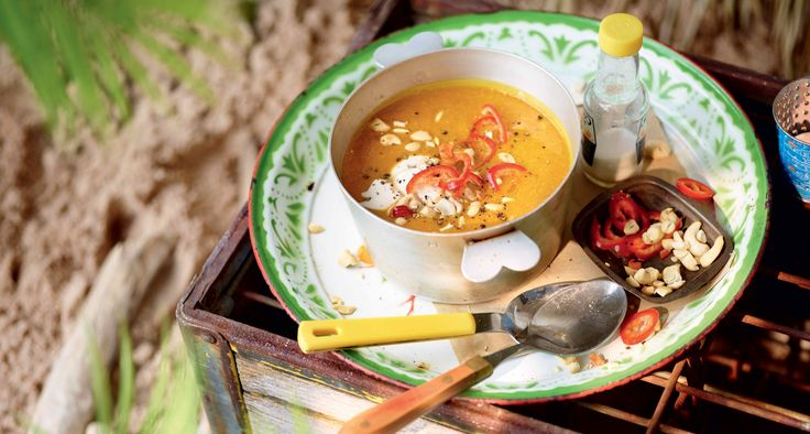 Soupe épicée de pommes de terre et noix de cajou