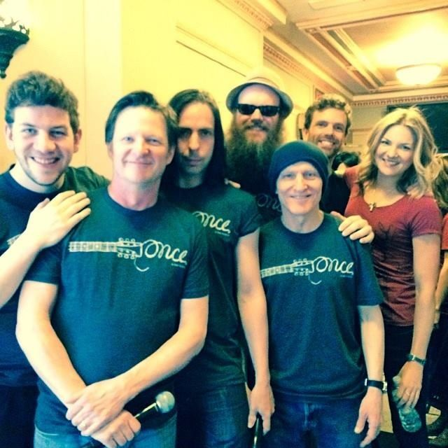 Cast of Once in their Once t-shirts.  I own the one that Joanna Christie has :)