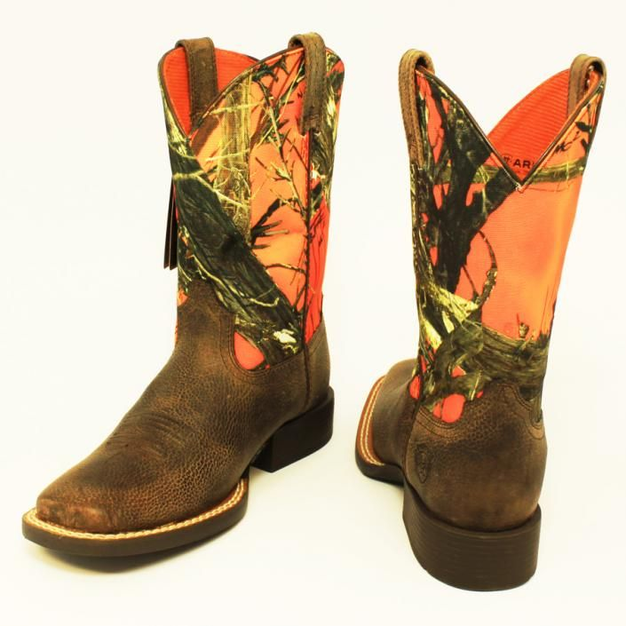 orange camo boots | Harry's - Est. 1939 | San Saba, TX - ST-34925 | Ariat Orange Camo ...