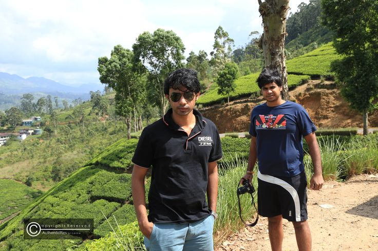 Authenticities team at work with camera's and the works ! our dedicated colleagues Akitha and Hasitha at the Maskeliya reservoir  after the rather gruelling experience the previous night climbing the Adam's Peak