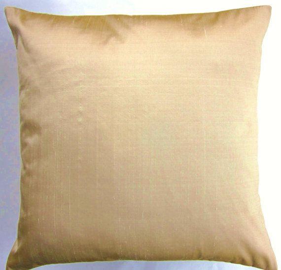 Gold Silk Throw Pillow Cover  Simply Silk Light by sassypillows, $19.99