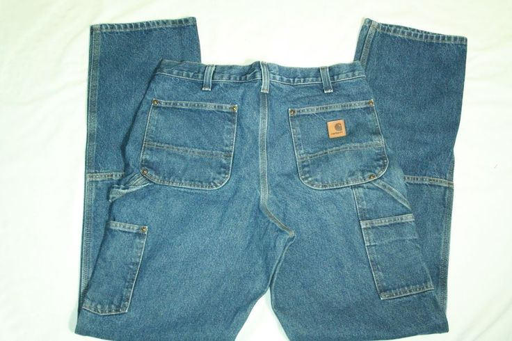 Mens Carhartt jeans 8 pocket carpenter relaxed fit tag size 32 X 36 #Carhartt #Relaxed
