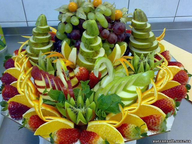 Cute display for serving fruit at your next party...
