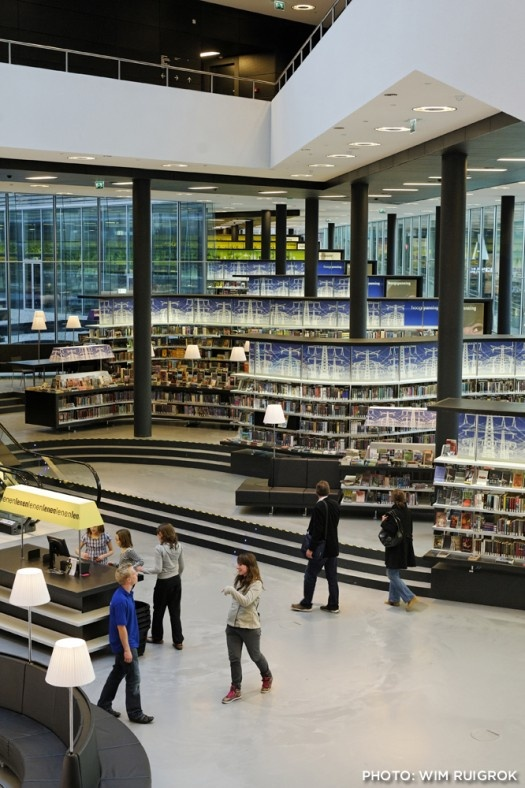 Main library at Almere, The Netherlands