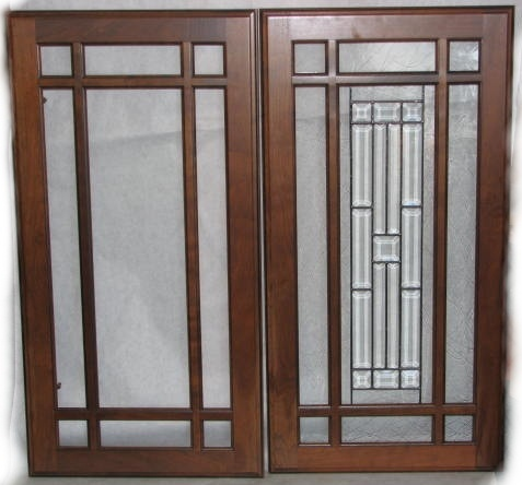 Mission Style Glass Front Cabinet Doors Kitchen