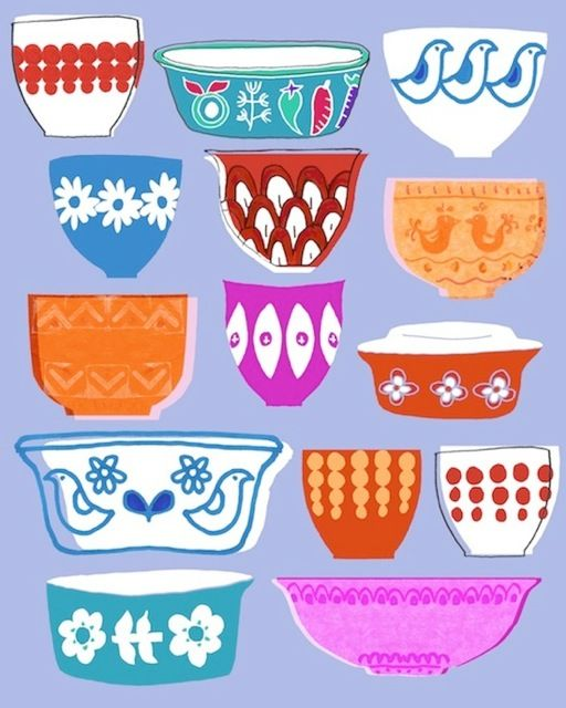 Vintage Pyrex by Tracey English