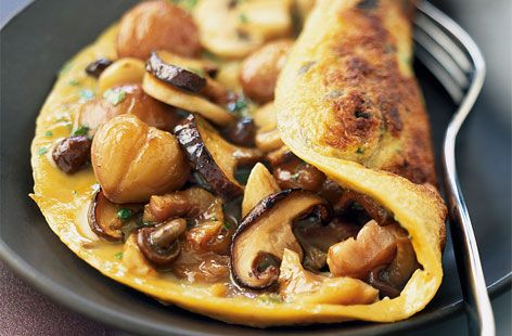 A simple Mushroom and chestnut omelette recipe for you to cook a great meal for family or friends. Buy the ingredients for our Mushroom and chestnut omelette recipe from Tesco today.