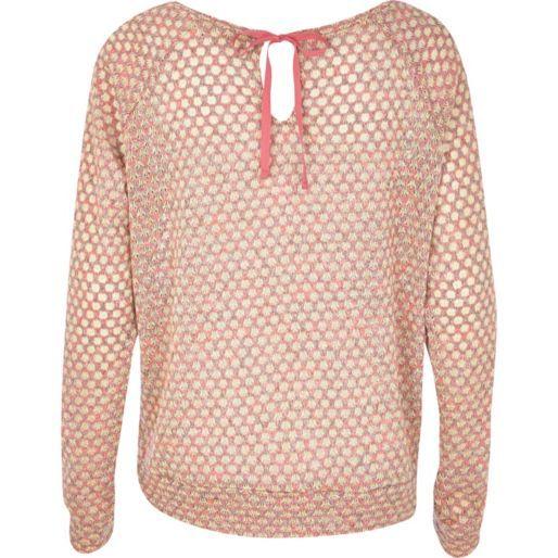 Pink polka dot bow back slouchy top - t-shirts / vests / sweats - sale - women