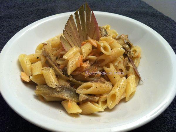 Mezze penne al salmone affumicato e carciofi, Ricetta da IlCucchiaiodiAnita - Petitchef
