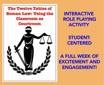 This is my favorite lesson for teaching about Ancient Rome, and it's the favorite of many other teachers as well. You receive a four-six hour unit plan for studying ancient Roman law through engagement and interaction between the teacher and the class and classmates themselves. More importantly, it is a complete set of plans for active and exciting learning that involves creating a mock Roman courtroom in your classroom.