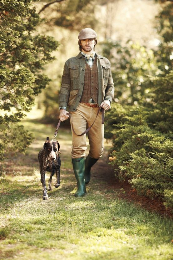 As I look the english country gentleman look is very similar to what I am thinking! Though a bit beet kept.
