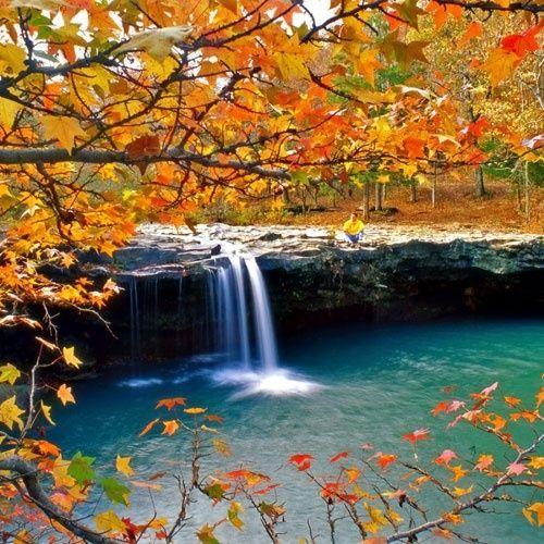 Majestic Falling Water Falls, Ozark National Forest, AK