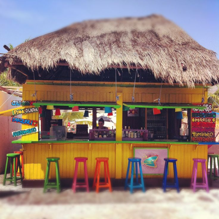 Why Not Go Bold And Bright With A Tropical Beach Bar