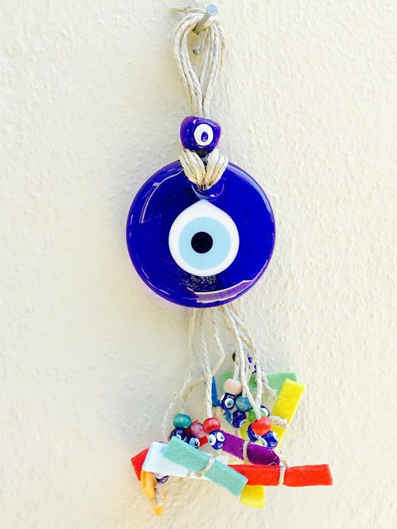 Blue glass Evil Eye Greek Evil Eye Charm talisman evil eye