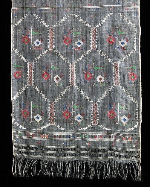 Ensemble, cotton, wool, silk, metal, Bulgarian