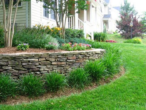 Landscaping on the northeast corner of the house slope for Garden design ideas sloping site
