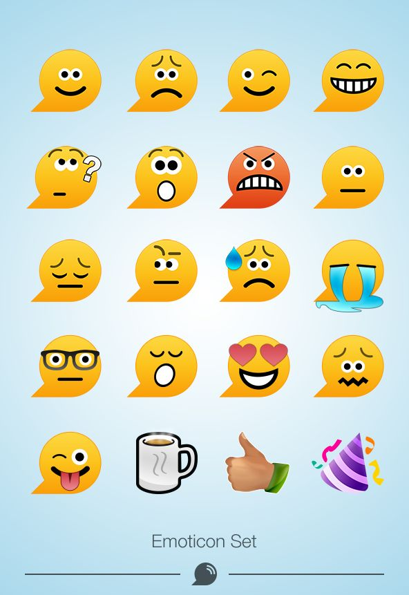 #Emoticon Set for WiHiApp #design #emotes #mobileapp #chat