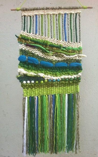 Inspiration Ateliers - tapiz mural a telar manual de lana reciclada ateluers créatifs à partir de septembre 2016
