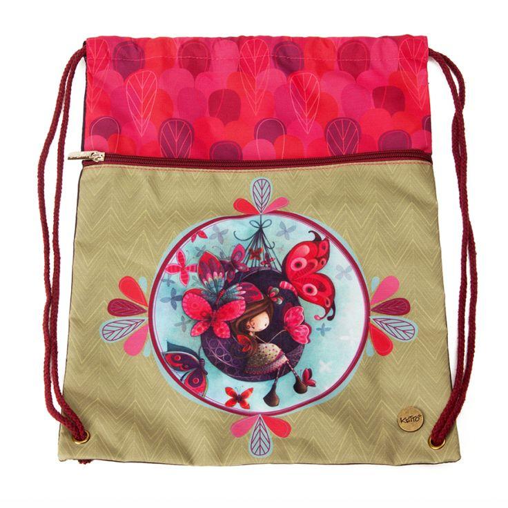 Un sac motivant! // Sac de Gym Fannie KETTO Gym Bag Fannie// Fermeture à cordons. Pochette avant avec fermeture éclair. // Strings closure. Front pocket with zipper closure. // #SacDeGym #GymBag #Ketto